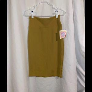 NWT LULAROE Mustard Yellow Cassie Skirt S